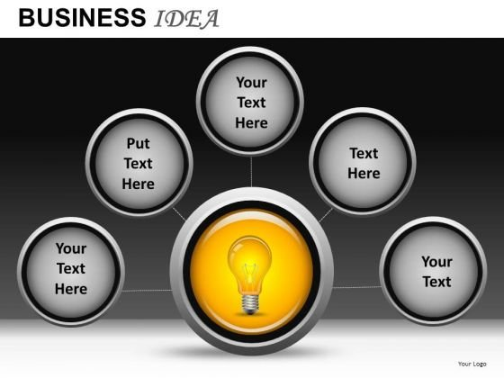 Network Of Ideas PowerPoint Templates