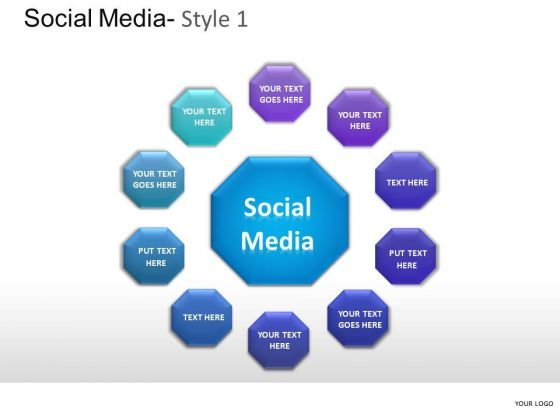 Network Social Media PowerPoint Slides And Ppt Template Diagrams