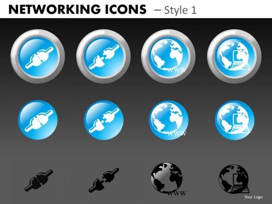 Networking Icons Style 1 Ppt 3