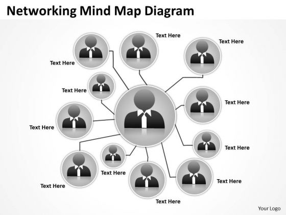 Networking Mind Map Diagram Ppt Business Plan For PowerPoint Slides