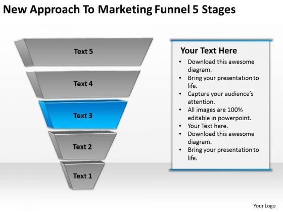 New Approach To Marketing Funnel 5 Stages Ppt Business Plans PowerPoint Slides