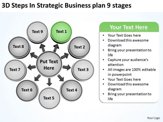 New Business PowerPoint Presentation Plan 9 Stages Cycle Diagram Slides