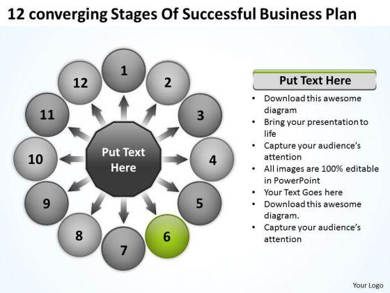 New Business PowerPoint Presentation Plan Circular Flow Spoke Chart Templates