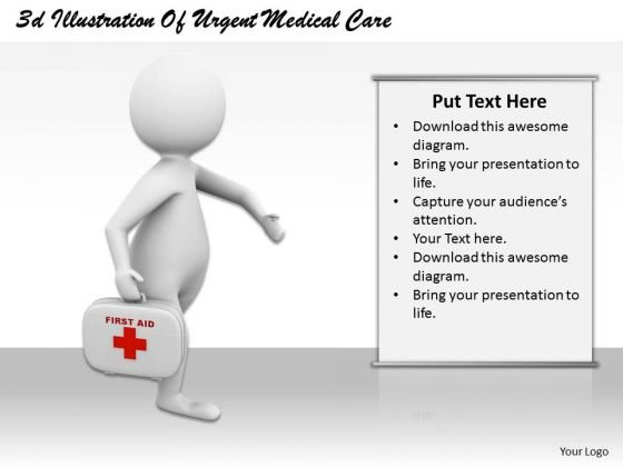 New Business Strategy 3d Illustration Of Urgent Medical Care Character