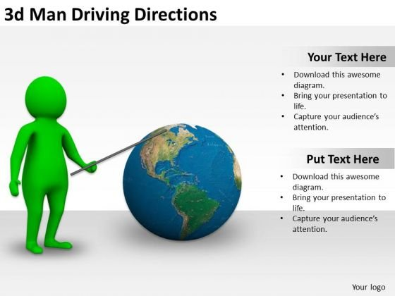 New Business Strategy 3d Man Driving Directions Adaptable Concepts