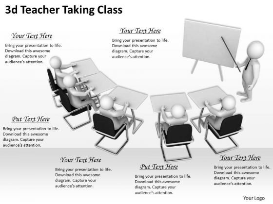 New Business Strategy 3d Teacher Taking Class Concepts