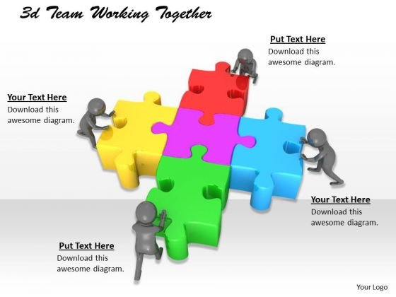 New Business Strategy 3d Team Working Together Basic Concepts