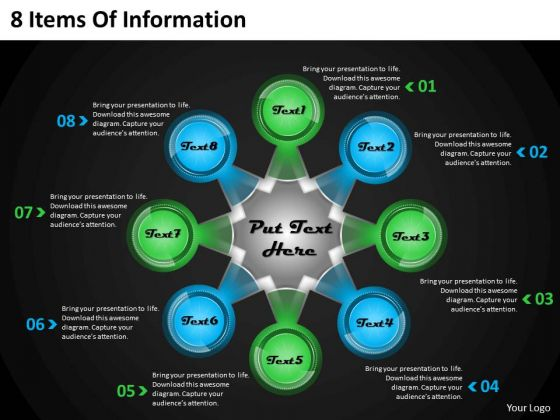 New Business Strategy 8 Items Of Information Strategic Plan Template Ppt Slide