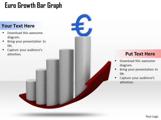 New Business Strategy Euro Growth Bar Graph Images Photos