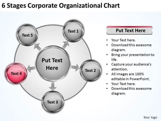 New Business Strategy Stages Corporate Organizational Chart Implementation