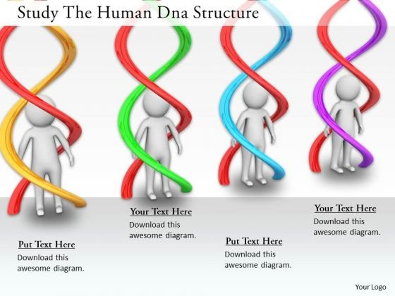 New Business Strategy Study The Human Dna Structure Concept