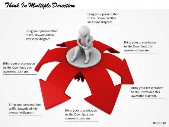 New Business Strategy Think Multiple Direction Concept
