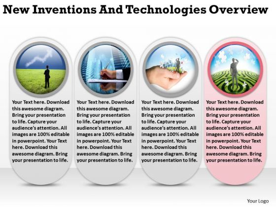 New Inventions And Technologies Overview Templates For Business Plans PowerPoint