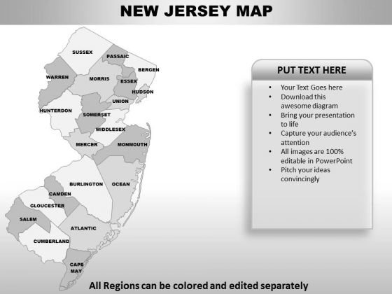 New Jersey PowerPoint Maps