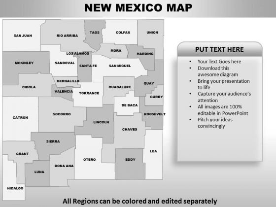 New Mexico PowerPoint Maps