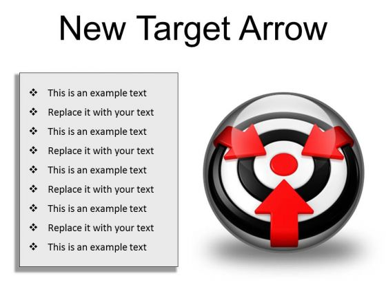 New Target Arrow Business PowerPoint Presentation Slides C