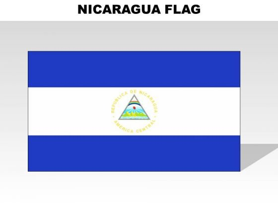 Nicaragua Country PowerPoint Flags