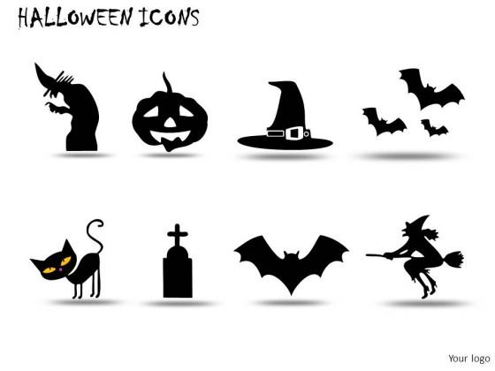 Night Halloween Icons PowerPoint Slides And Ppt Diagram Templates