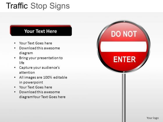 No Entry Traffic Stop PowerPoint Slides And Ppt Diagram Templates