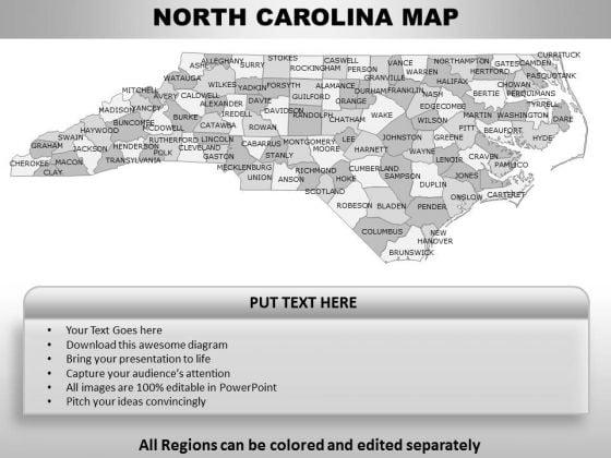 North Carolina PowerPoint Maps