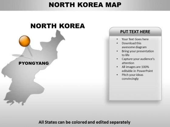 North Korea Country PowerPoint Maps