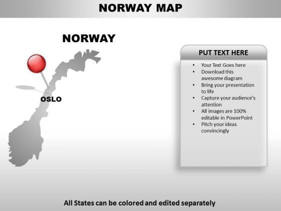 Norway Country PowerPoint Maps