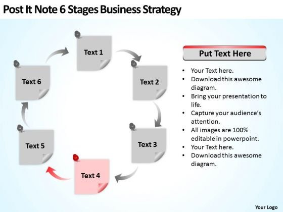 Note 6 Stages Business Strategy Consultant Ppt Outline Of Plan PowerPoint Templates