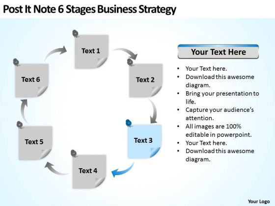 Note 6 Stages Corporate Business Strategy Ppt Plan Writer Software PowerPoint Templates