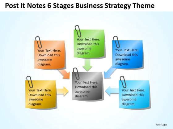 Notes 6 Stages Company Business Strategy Theme Ppt Plan PowerPoint Slides