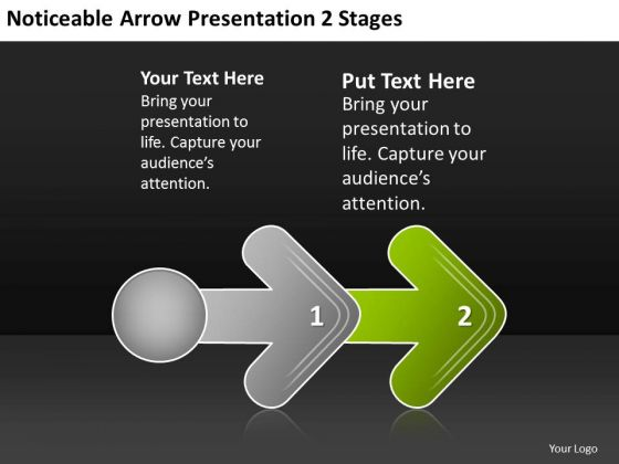 noticeable_arrow_presentation_2_stages_ppt_plan_business_powerpoint_templates_1