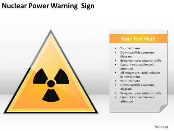 Nuclear Power Warning Sign Ppt Frozen Yogurt Business Plan PowerPoint Templates