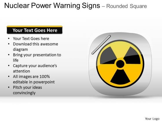 Nuclear Power Warning Signs PowerPoint Slides And Ppt Diagrams Images