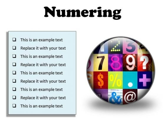 Numbering Education PowerPoint Presentation Slides C