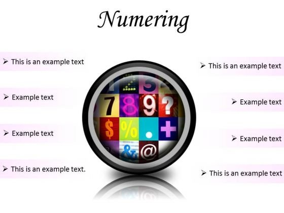 Numbering Education PowerPoint Presentation Slides Cc