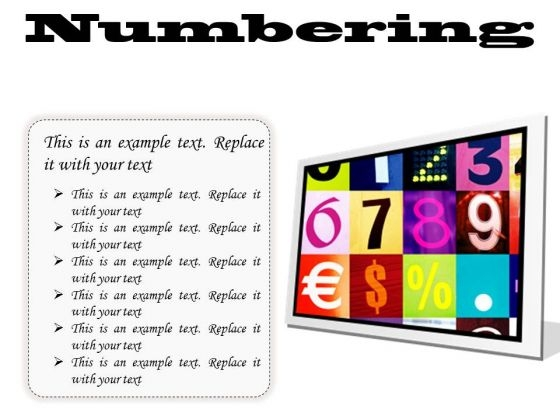Numbering Education PowerPoint Presentation Slides F
