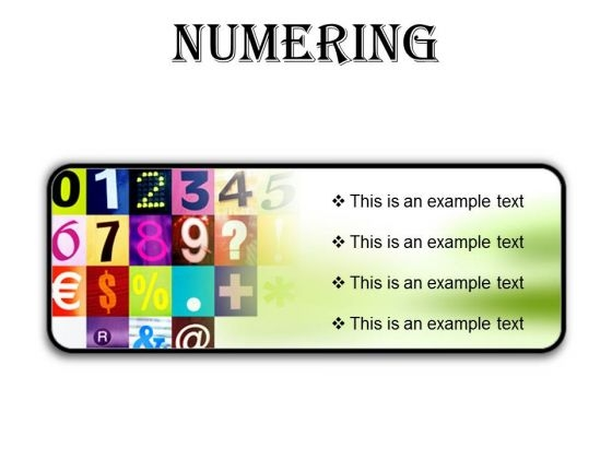 Numbering Education PowerPoint Presentation Slides R