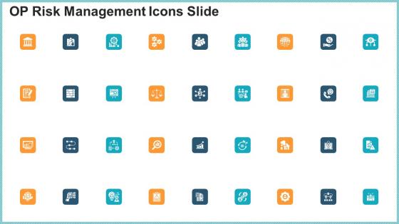 OP Risk Management Icons Slide Mockup PDF