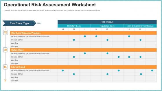 OP Risk Management Operational Risk Assessment Worksheet Microsoft PDF