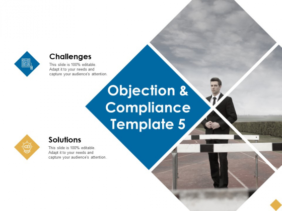 Objection And Compliance Challenges Ppt PowerPoint Presentation Slides Backgrounds