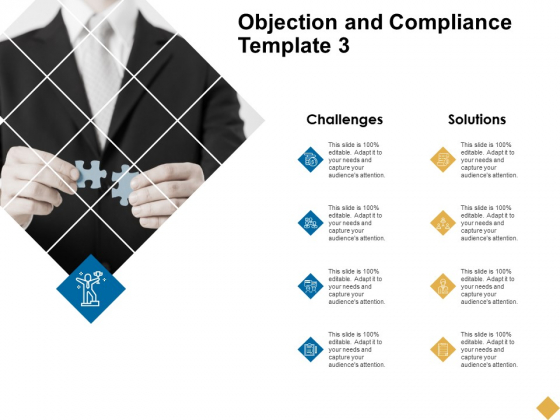 Objection And Compliance Template 3 Ppt PowerPoint Presentation Slide