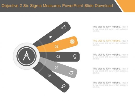 Objective 2 Six Sigma Measures Powerpoint Slide Download