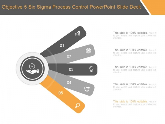 Objective 5 Six Sigma Process Control Powerpoint Slide Deck