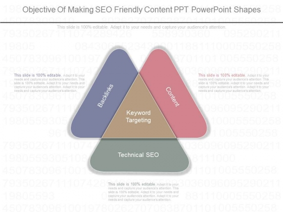 Objective Of Making Seo Friendly Content Ppt Powerpoint Shapes