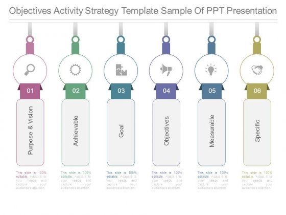 Objectives Activity Strategy Template Sample Of Ppt Presentation