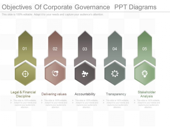 Objectives Of Corporate Governance Ppt Diagrams - PowerPoint