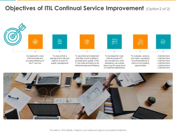 Objectives Of ITIL Continual Service Improvement Opportunities Ppt Show Layout PDF
