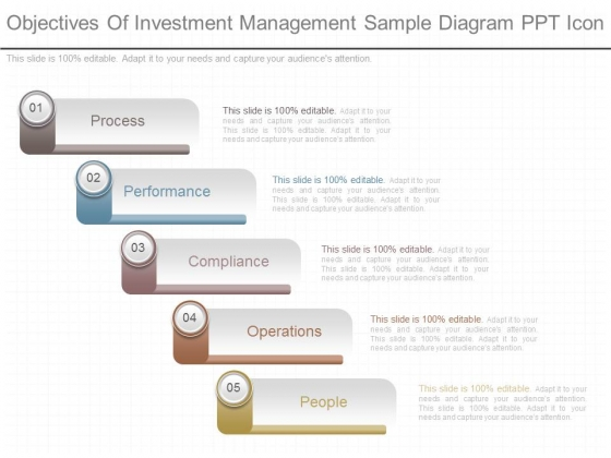 Objectives Of Investment Management Sample Diagram Ppt Icon