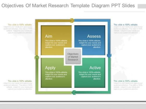 Objectives Of Market Research Template Diagram Ppt Slides