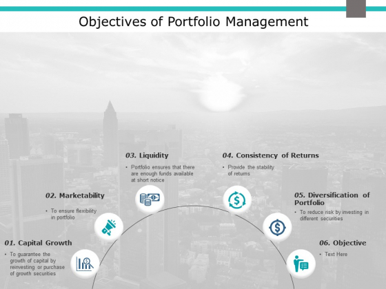 Objectives Of Portfolio Management Ppt PowerPoint Presentation Icon Files
