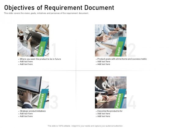 Objectives Of Requirement Document Clipart PDF